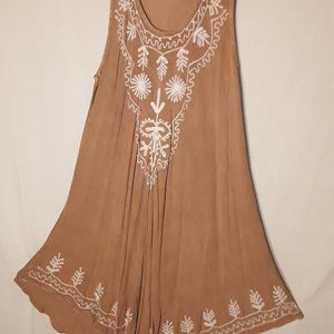 NWOT Boho Embroidered Dress - One Size